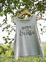 Yoga Tanktop Yoga & Coffee Biokatoen