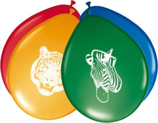 Dieren Ballonnen Safari 8st
