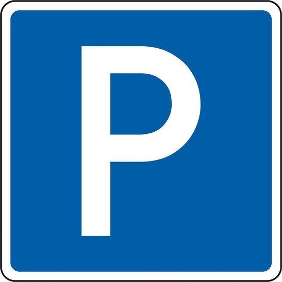 Bord Parkeerplaats, RA1 - aluminium - 600 x 600 mm