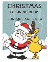 Christmas coloring book For Kids Ages 4 - 8