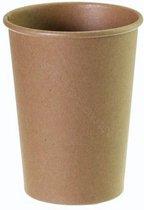 Kartonnen Koffiebeker 8oz 240ml bruin - 100 Stuks - wegwerp papieren bekers - drinkbekers - milieuvriendelijk