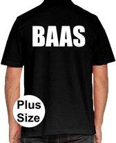 BAAS grote maten poloshirt zwart voor heren - Plus size BAAS polo t-shirt 3XL