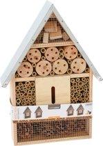 Bijenhotel - Insectenhotel 28 X 8,5 X 39,5 Cm Hout/staal Naturel