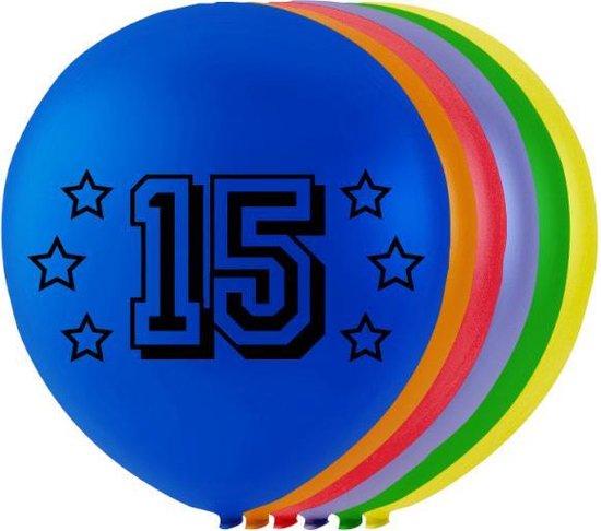Wefiesta Ballonnen 15 Jaar 25 Cm Latex 8-delig