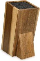 Navaris universeel messenblok zonder messen - Messenhouder van acaciahout - Houten messenblok - Geschikt voor alle maten keukenmessen en koksmessen