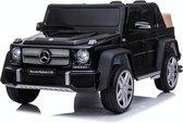 Mercedes Maybach G650 Elektrische Kinderauto 12V - Zwart - Accu Auto voor kinderen met Rubberen banden, Leren Zitje, Bluetooth en Afstandsbediening