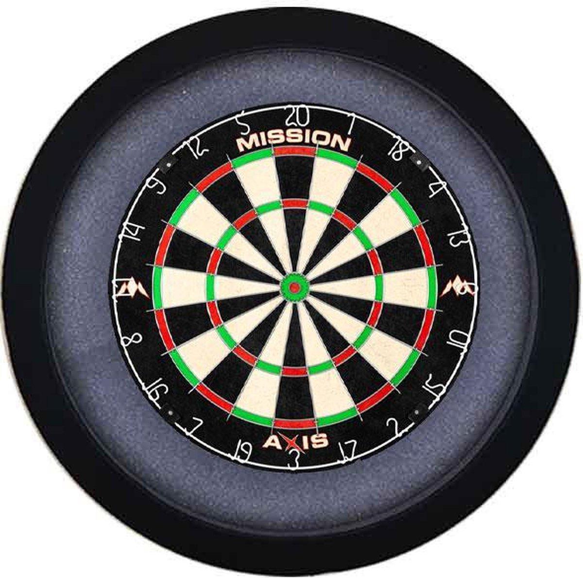 Dartbord Verlichting Voordeelpakket Pro + Mission Axis + Dartbordverlichting Basic XL(Zwart)