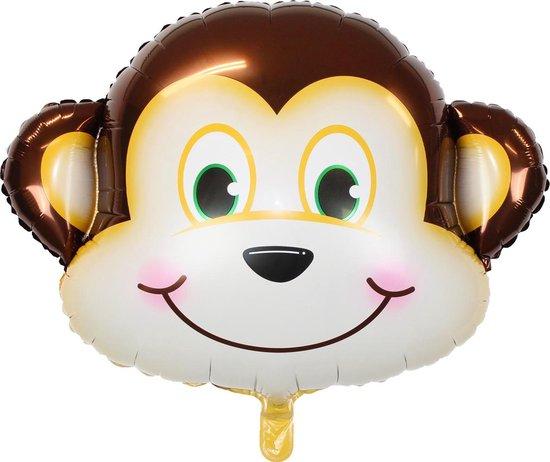 Aap Ballon Jungle Safari Helium Ballonnen Verjaardag Versiering Feest Decoratie XL Formaat 90 CM Met Rietje – 1 Stuk