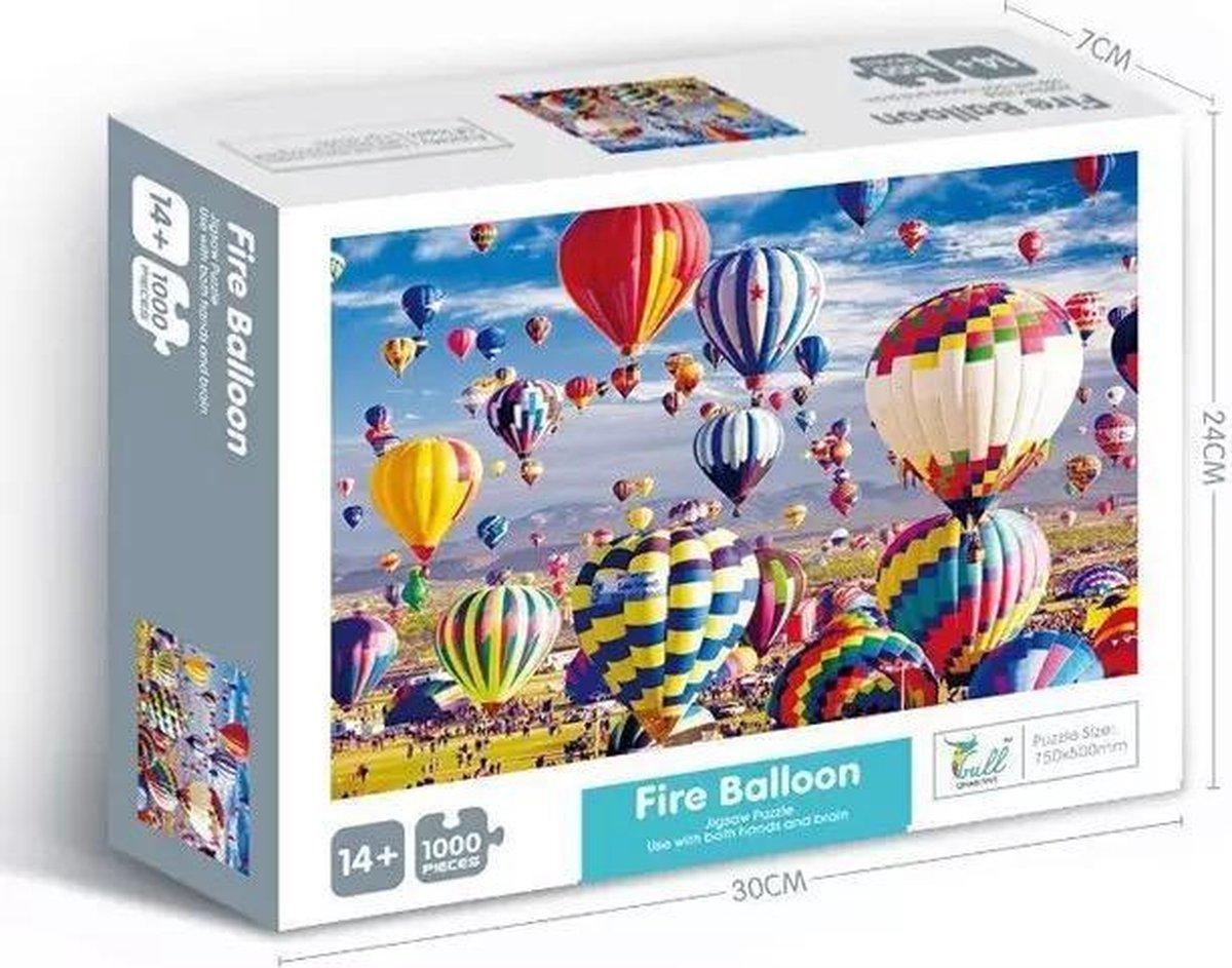 Puzzel 1000 Stukjes Volwassenen | Puzzel 1000 stukjes puzzel Legpuzzels Puzzle Jigsaw Puzzels - Speelgoed Hobby en Creatief Voor Volwassenen | 50*70 cm | puzzels voor volwassenen | Fire Balloon 1000 stukjes