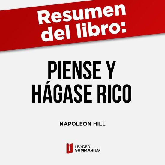 Boek cover Resumen del libro Piense y hágase rico de Napoleon Hill van Leader Summaries (Onbekend)
