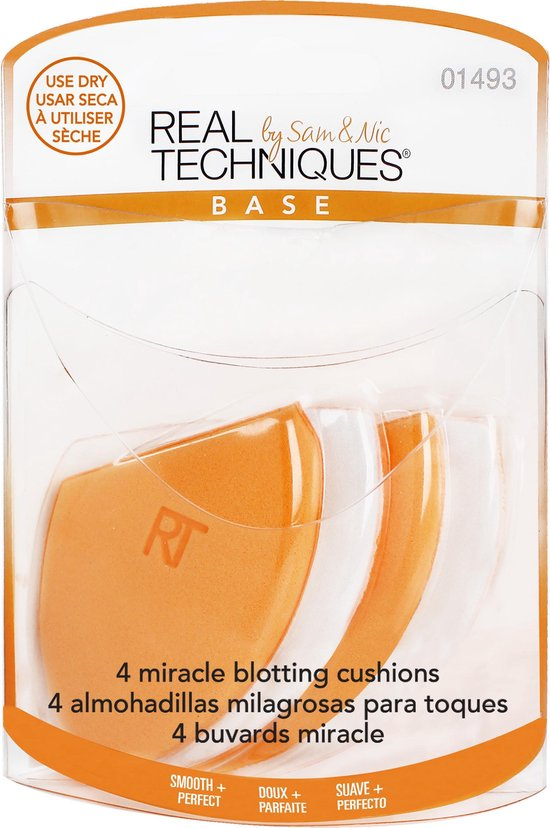 Real Techniques 4 MIRACLE BLOTTING CUSHIONS - Real Techniques