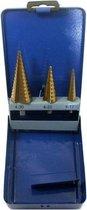 HSS Stappenboor set titanium
