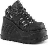 Demonia Enkellaars -39 Shoes- STOMP-09 US 9 Zwart
