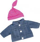 Bayer Spijkerjack Met Muts Babypop 20 Cm Blauw/roze