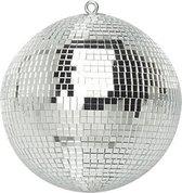 Spiegelbol discobol zilver - 20 cm