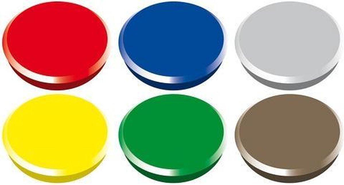 Gekleurde magneten setje 6 stuks - Merkloos