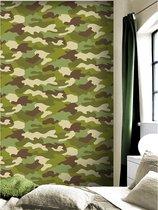 Camouflage Behang GROEN