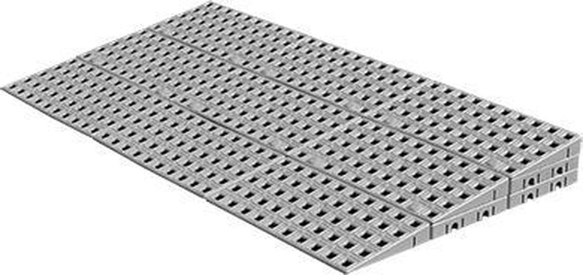 Drempelhulp Buiten - 3 laags - 5,6 tot 7,2 cm (H) x 100 cm (B) - Verstelbare Oprijplaat / Drempelplaat - Oprijhelling - HomeCare Innovation BV