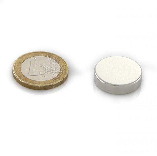 Neodymium Sterke Magneten - Magneet - SET 100 STUKS Schijfmagneten 20 x 5mm - 6.3 kg Trekkracht - Merkloos