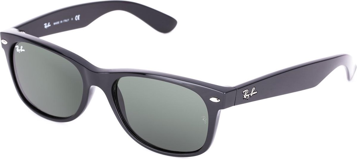 Ray-Ban RB2132 901L - New Wayfarer (Classic) - zonnebril - Zwart / Groen Klassiek G-15 - 55mm - Ray-Ban