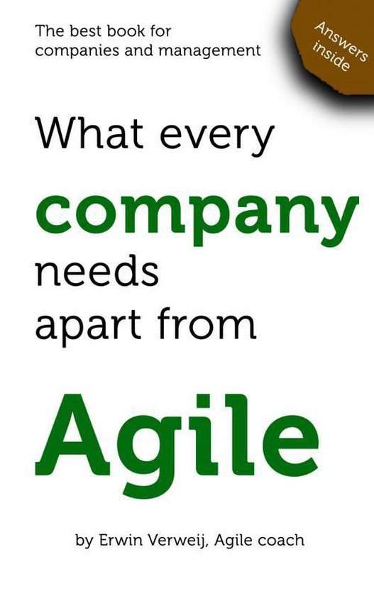 What every company needs apart from Agile - Erwin Verweij | Readingchampions.org.uk