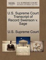 U.S. Supreme Court Transcript of Record Swenson V. Sage
