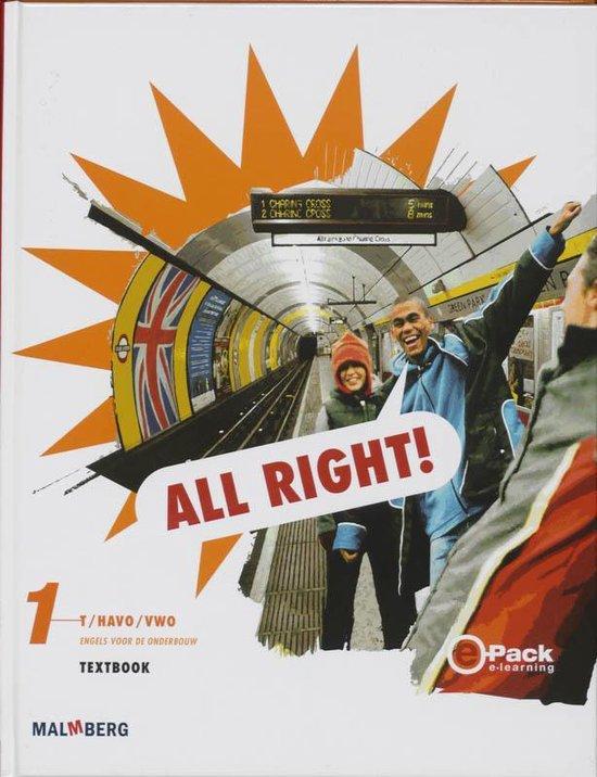 All right! 1 t/Havo/Vwo Textbook - H. de Zwart |