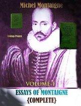 Essays of Montaigne (Volume-I)