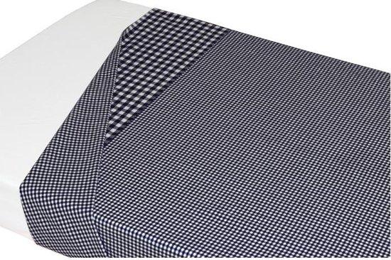 Taftan - Lakentje ruit klein - 120 x 150 cm - omslag grote ruit zwart