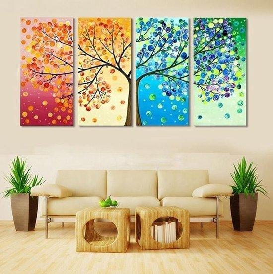 Bol Com 4 Seizoenen Canvas Wanddecoratie