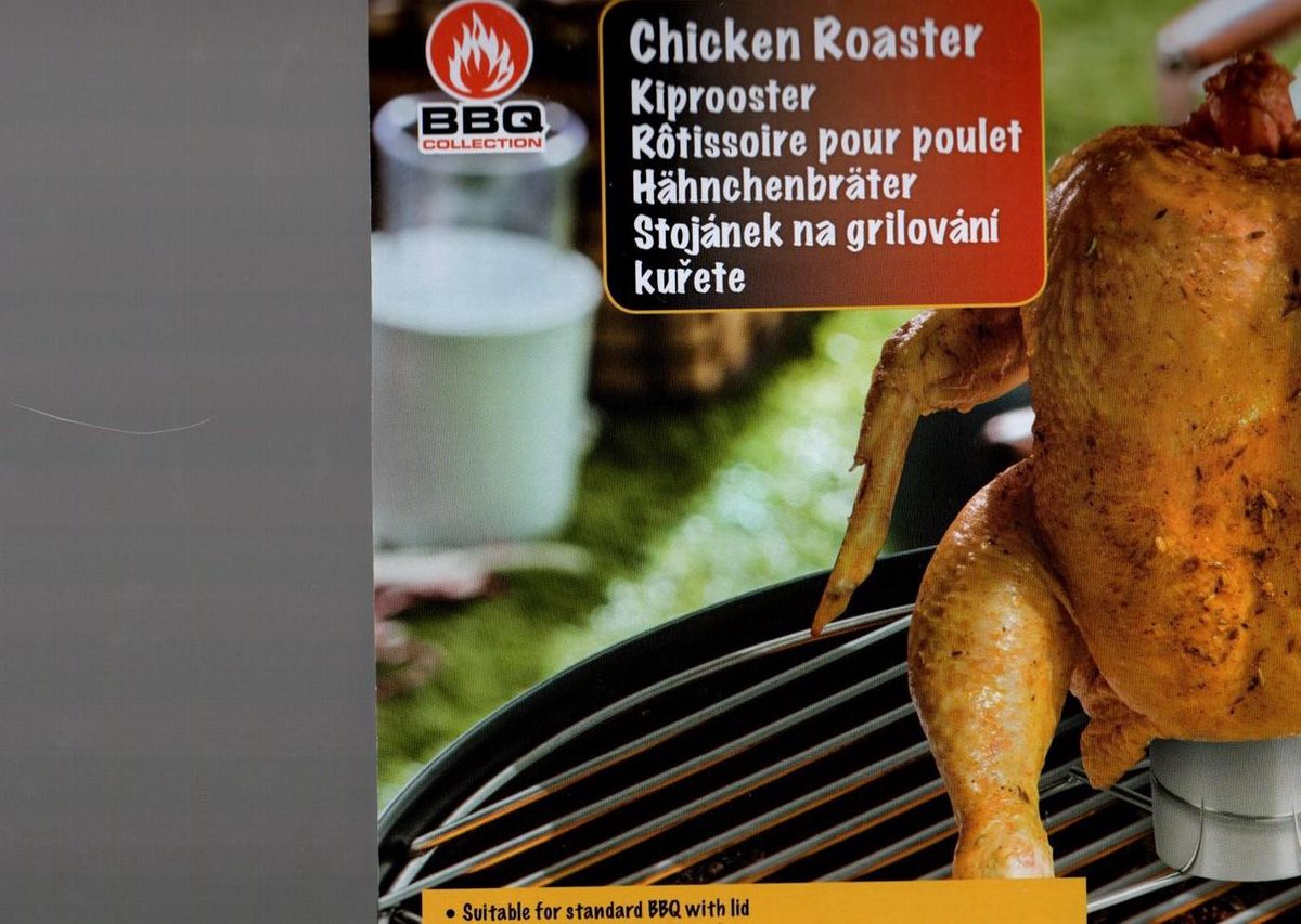 kiphouder chroom BBQ