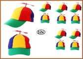 12x Baseball cap propeller multie kleuren
