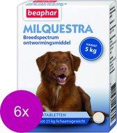 Beaphar Milquestra Hond - Anti wormenmiddel - 6 x 2 tab 5 Tot 50 Kg