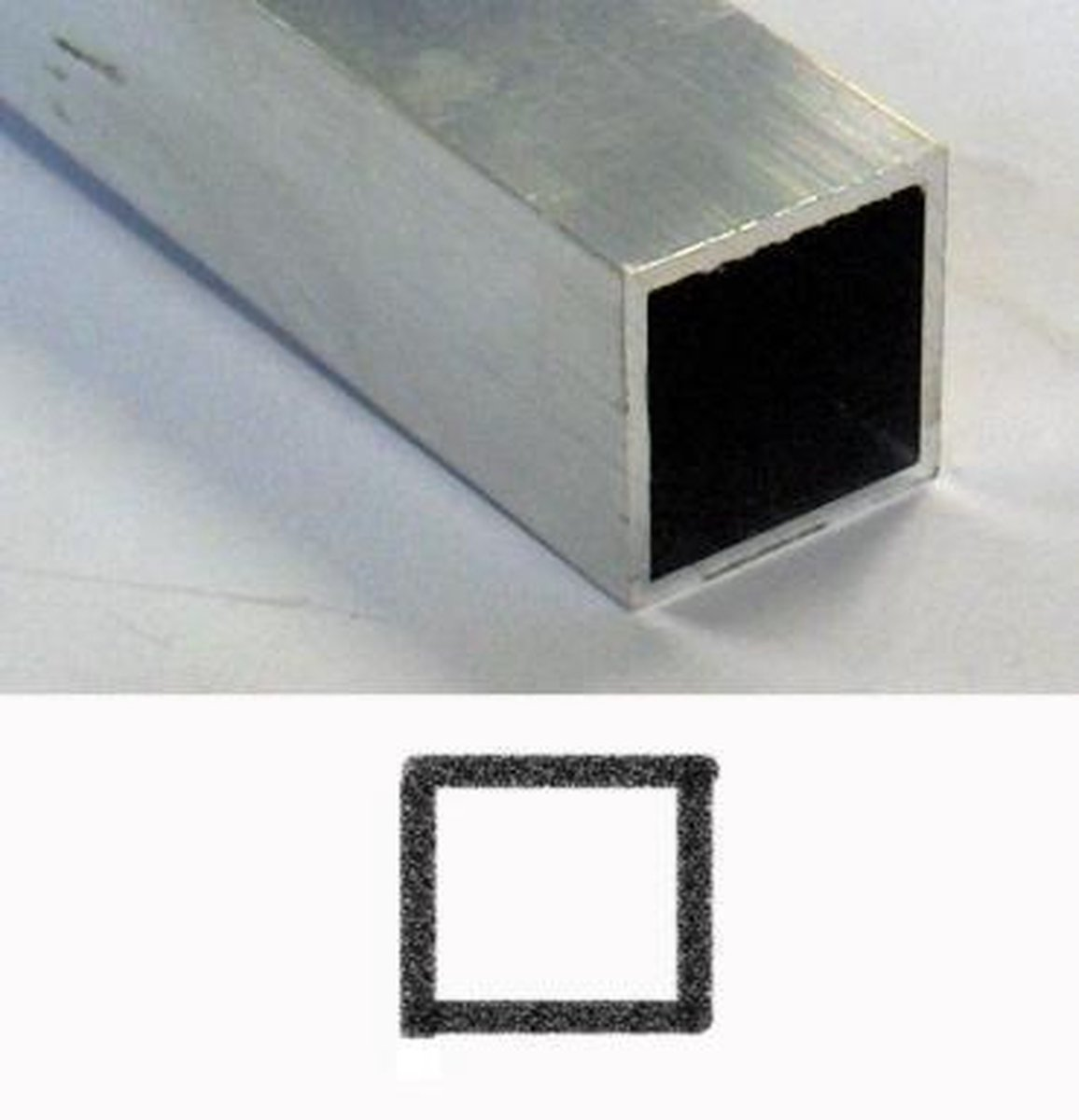 Roval Aluminium kokerprofiel 25 x 25 x 2mm - Roval