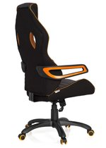 hjh office Racer Pro III - Bureaustoel - Stof - Zwart / grijs / oranje