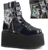 Demonia Enkellaars -39 Shoes- DAMNED-115 US 9 Zwart