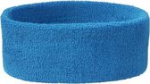 Hoofd zweetband aqua blauw