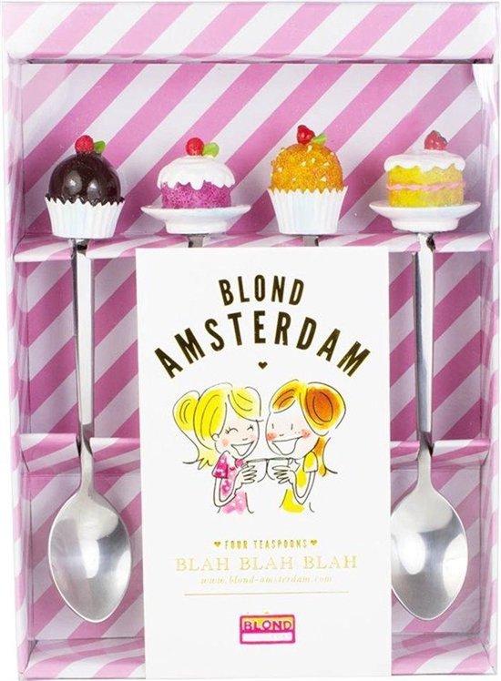 Blond Amsterdam Even Bijkletsen Theelepels - 4 Stuks
