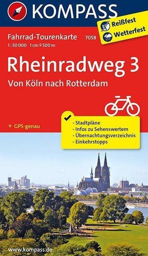Kompass FK7058 Rheinradweg 3, Von Köln nach Rotterdam - Kompass |