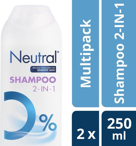 Neutral 0% Shampoo 2 in 1 - 2 x 250 ml - voordeelverpakking