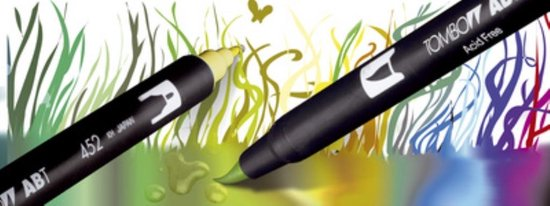 Tombow ABT Dual - Brush tekenpennen - Pastel kleuren - Set van 6