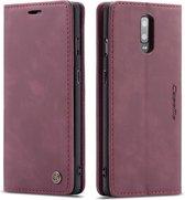 OnePlus 7 Hoesje - CaseMe Book Case - Bordeaux