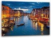 Glas schilderij Venetië | Blauw, Oranje | 100x70cm 1Luik | Foto print op Glas |