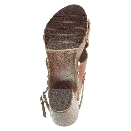 Nelson dames sandaal op hak - Cognac - Maat 37 PrG7mXcz