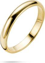 Twice As Nice Ring in 18kt verguld metaal, trouwring 3 mm  54