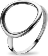 Twice As Nice Ring in zilver, gebogen cirkel  56