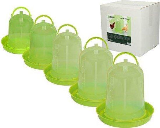Pluimvee drinktoren Lime groen 3 liter