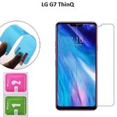DrPhone LG G7 ThinQ Nano Explosion-proof Schermfolie Flexibele Anti-Shock 0.3mm Soft Glass Screenprotector - Nano technologie Screen Protector - Inclusief NL Handleiding