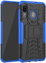 Samsung Galaxy A30 hoes - Schokbestendige Back Cover - Blauw