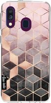 Samsung Galaxy A40 (2019) hoesje Soft Pink Gradient Cubes Casetastic Smartphone Hoesje softcover case